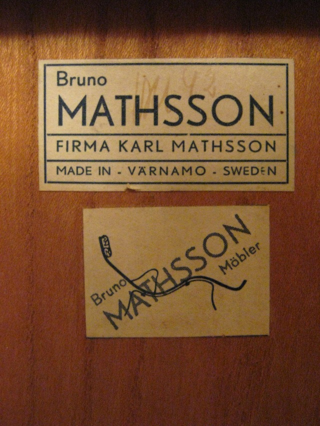 Bruno Mathsson 1942 rullbord klaffbord Berit