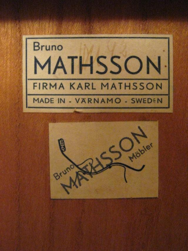 Bruno Mathsson 1942 rullbord klaffbord Berit